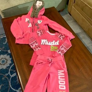 Girls outfit by mudd sweatpants, shirt, jacket 6